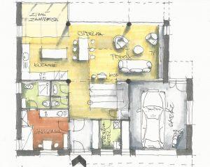 návrh domu - půdorys
