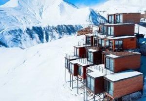 Luxusní kontejnerový ski resort