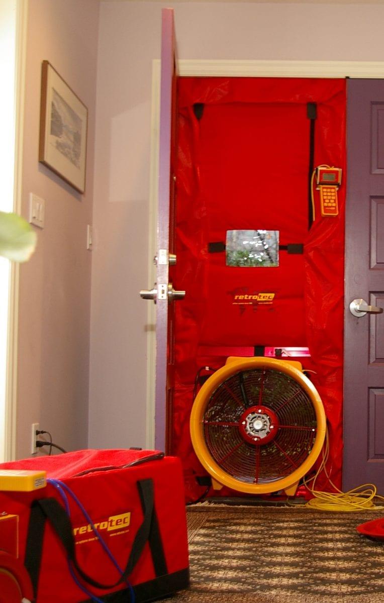 blower-door test